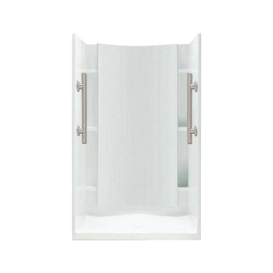 Sterling Accord White Wall Vikrell Floor 4-Piece Alcove Shower Kit (Common: 36-in x 36-in; Actual: 71.25-in x 36-in x 36-in)