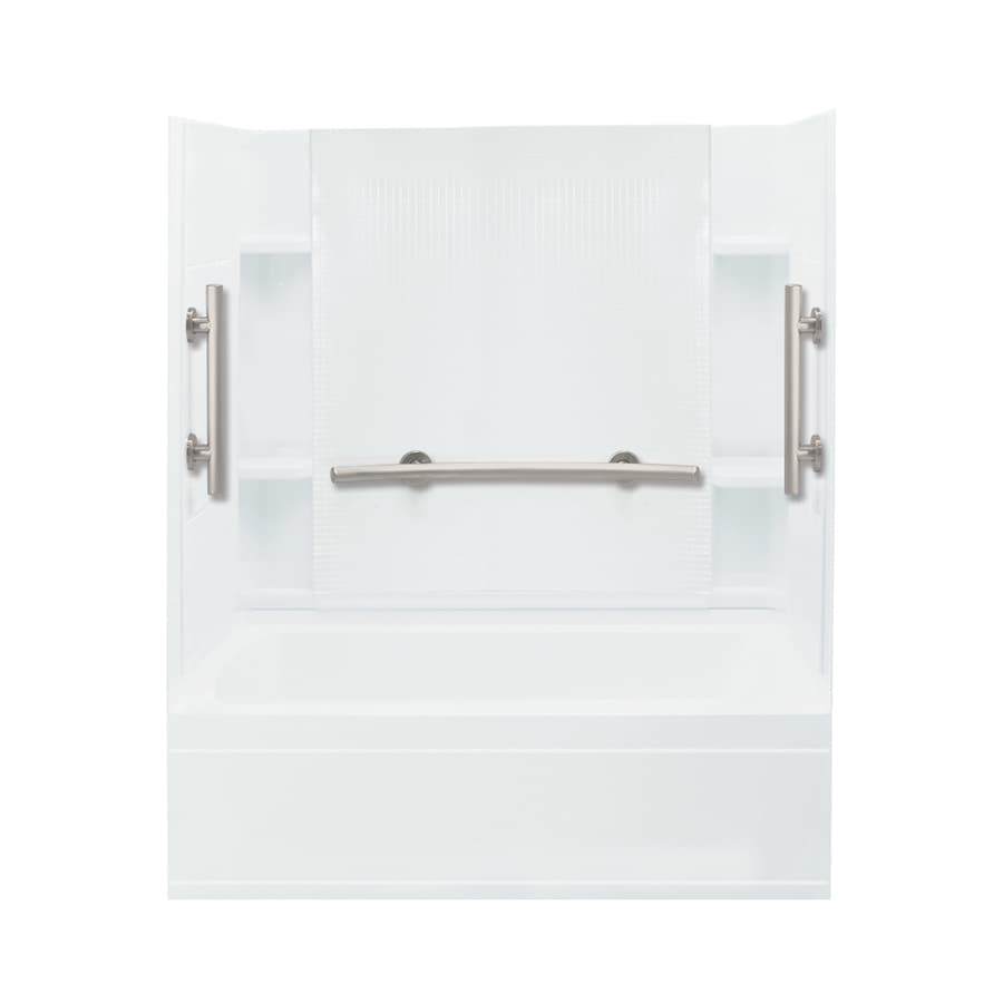 Sterling Accord White Vikrell Rectangular Alcove Bathtub with Left-Hand Drain (Common: 60-in x 36-in; Actual: 76.25-in x 60-in x 36-in