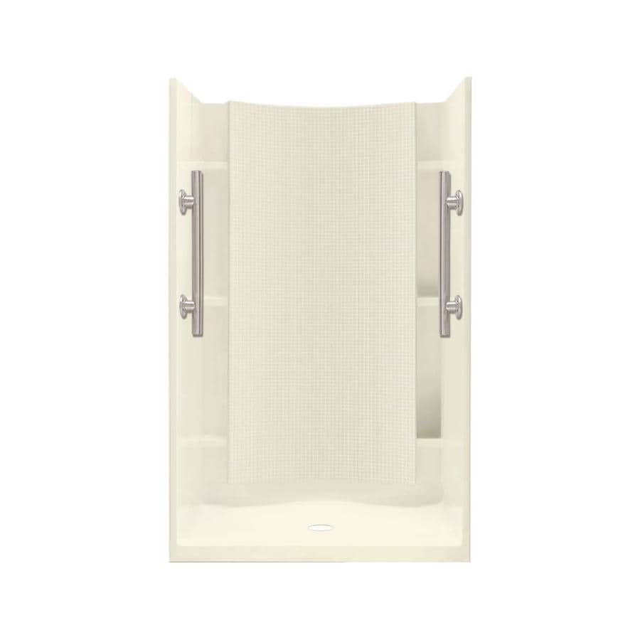 Sterling Accord Biscuit 4-Piece Alcove Shower Kit (Common: 42-in x 36-in; Actual: 42-in x 36-in)