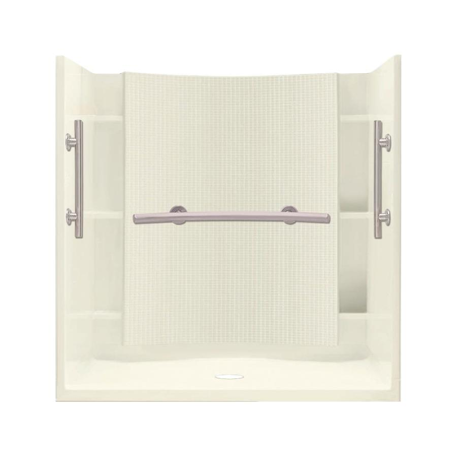 Sterling Accord Biscuit 4-Piece Alcove Shower Kit (Common: 60-in x 36-in; Actual: 60-in x 36-in)