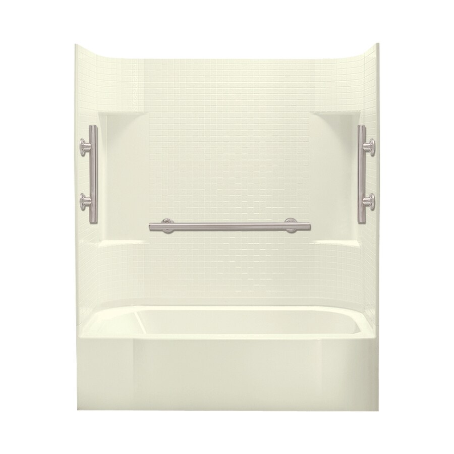 Sterling Accord Biscuit Vikrell Rectangular Alcove Bathtub with Right-Hand Drain (Common: 60-in x 30-in; Actual: 72-in x 60-in x 30-in