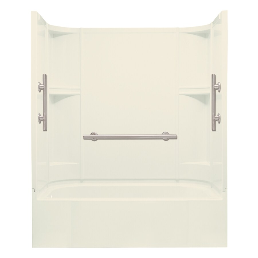 Sterling Accord Biscuit Vikrell Rectangular Alcove Bathtub with Left-Hand Drain (Common: 60-in x 30-in; Actual: 72-in x 60-in x 30-in