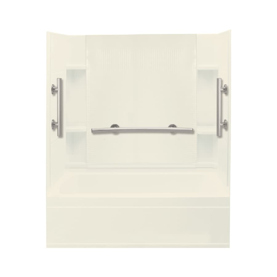 Sterling Accord Biscuit Vikrell Rectangular Alcove Bathtub with Left-Hand Drain (Common: 60-in x 32-in; Actual: 74.25-in x 60-in x 32-in