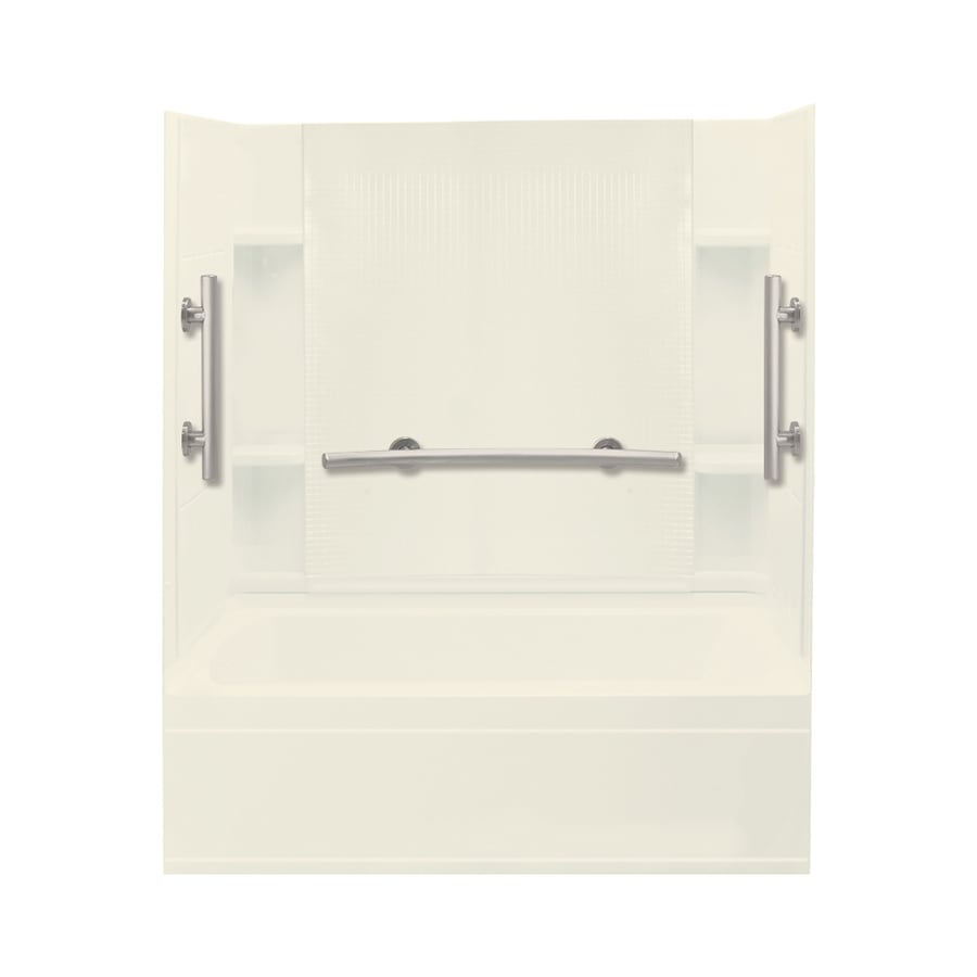 Sterling Accord Biscuit Vikrell Rectangular Alcove Bathtub with Left-Hand Drain (Common: 36-in x 60-in; Actual: 76.2500-in x 36-in x 60-in)