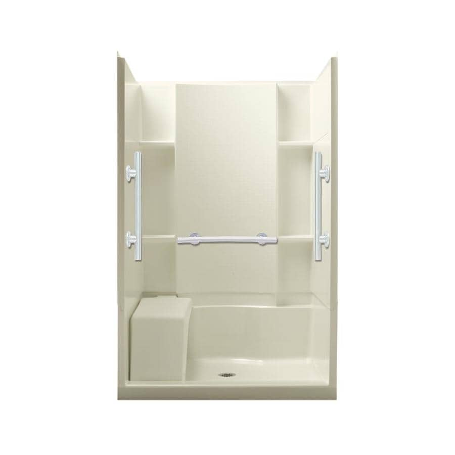 Sterling Accord Biscuit 4-Piece Alcove Shower Kit (Common: 48-in x 36-in; Actual: 48-in x 36-in)