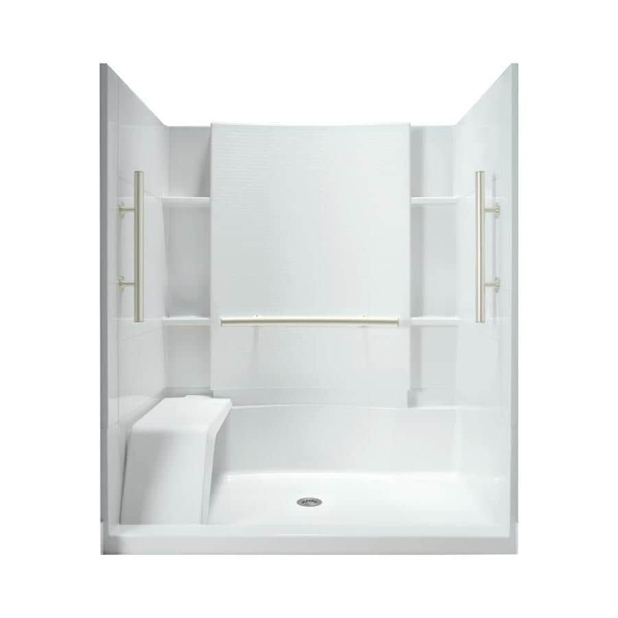 Sterling Accord White 4 Piece Alcove Shower Kit (Common: 36 In X