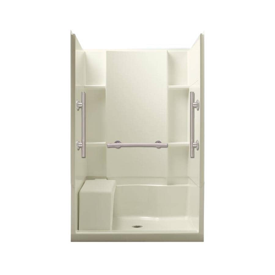Sterling Accord Biscuit 4-Piece Alcove Shower Kit (Common: 36-in x 48-in; Actual: 36-in x 48-in)