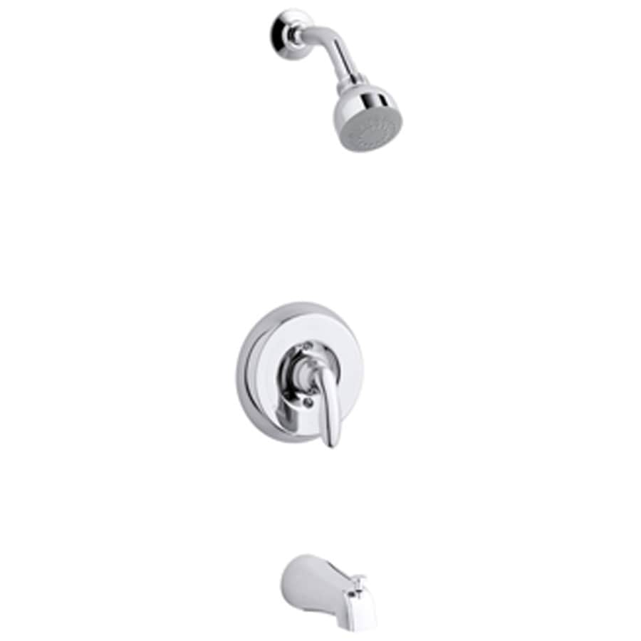 KOHLER Coralais Brushed Chrome 1-Handle WaterSense Bathtub and Shower with Single Function Showerhead