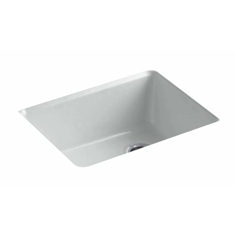 KOHLER 25-in x 22-in Ice Grey Single-Basin Drop-In Residential ... on christmas ice, bar sink ice, freezer ice,