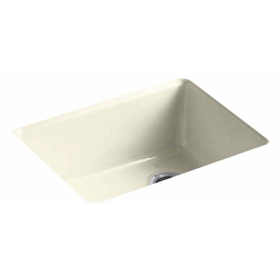 KOHLER 22-in x 25-in Cane Sugar Single-Basin-Basin Cast Iron Drop-in (Customizable)-Hole Residential Kitchen Sink