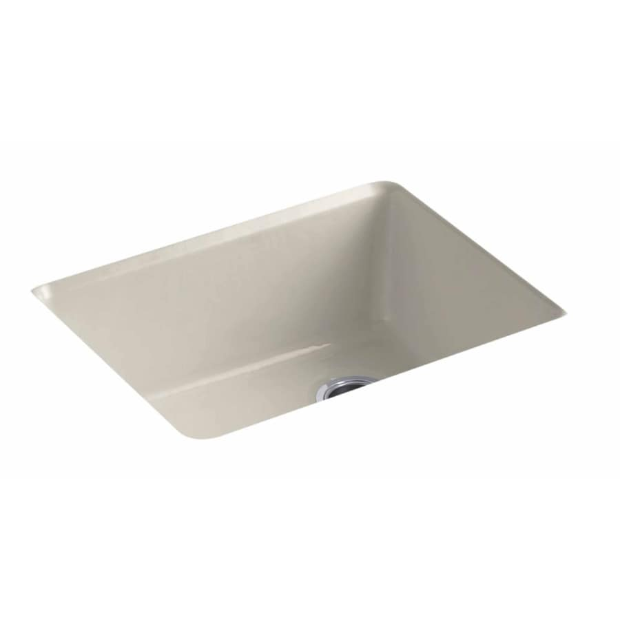 KOHLER 22-in x 25-in Sandbar Single-Basin Cast Iron Drop-in Residential Kitchen Sink