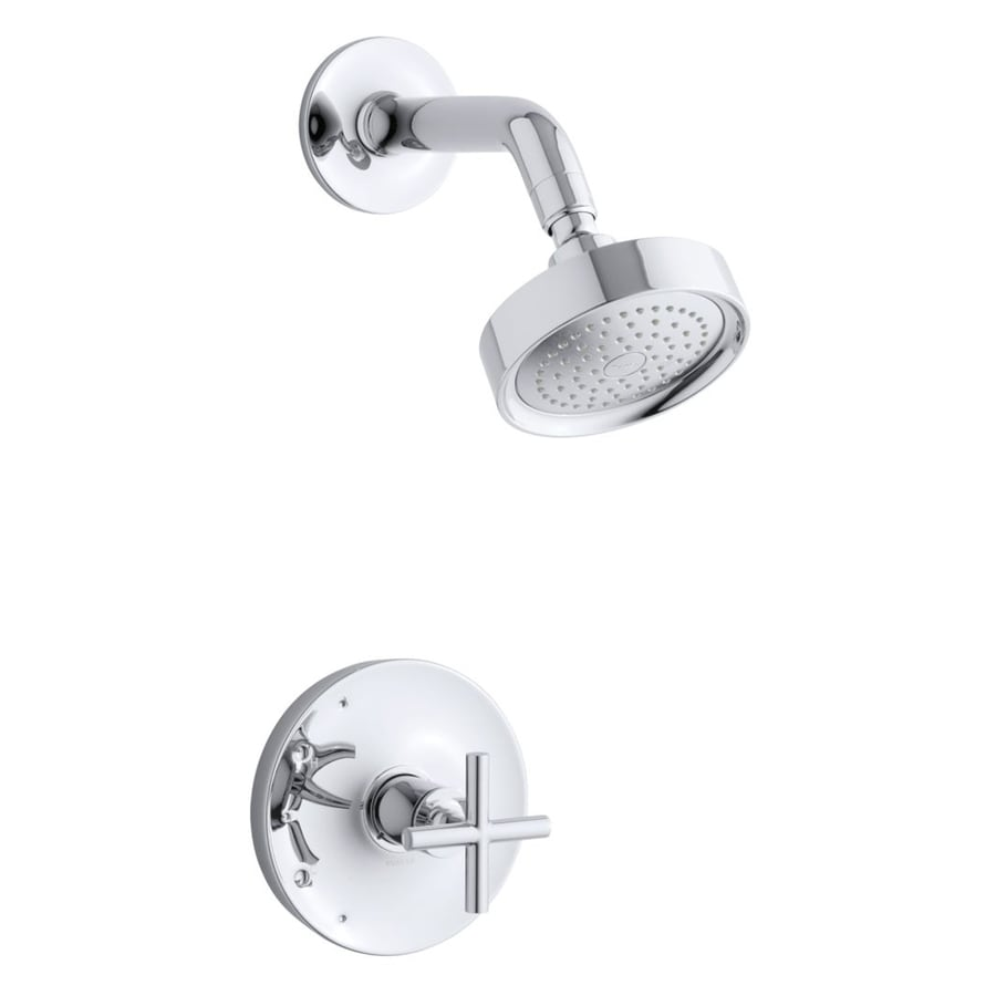 KOHLER Purist Polished Chrome 1-Handle WaterSense Shower Faucet Trim Kit with Single Function Showerhead