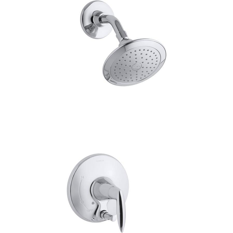 KOHLER Alteo Polished Chrome 1-Handle WaterSense Shower Faucet Trim Kit with Single Function Showerhead