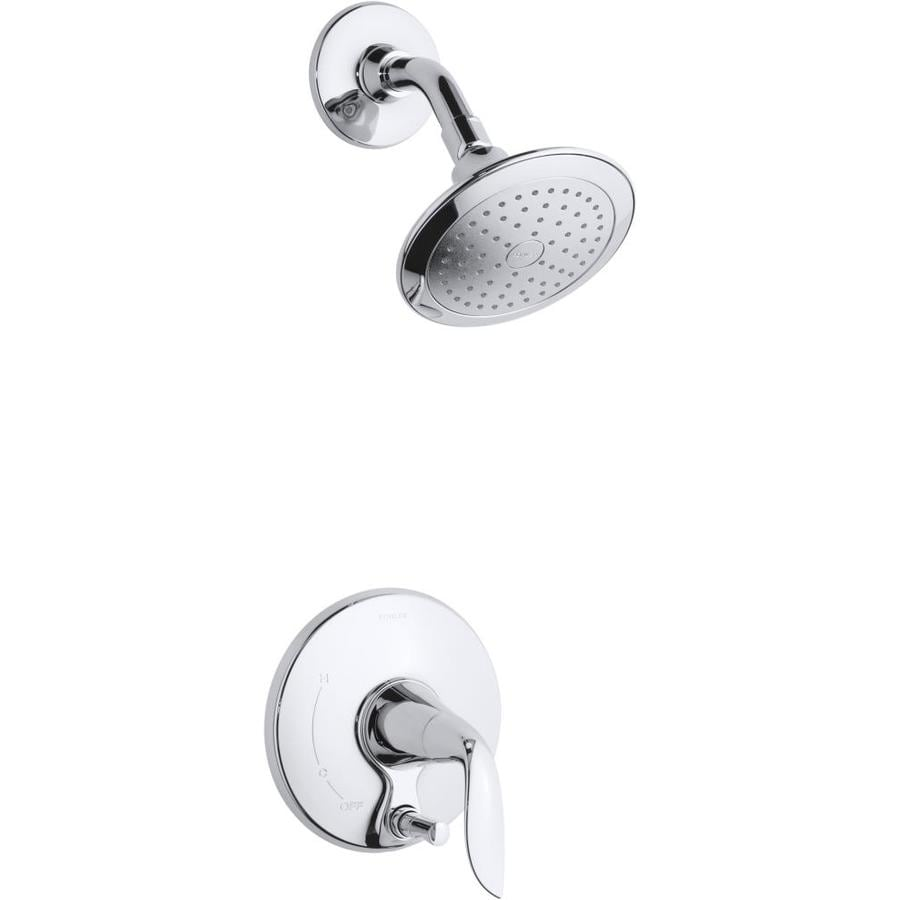 KOHLER Refinia Polished Chrome 1-Handle WaterSense Shower Faucet Trim Kit with Single Function Showerhead