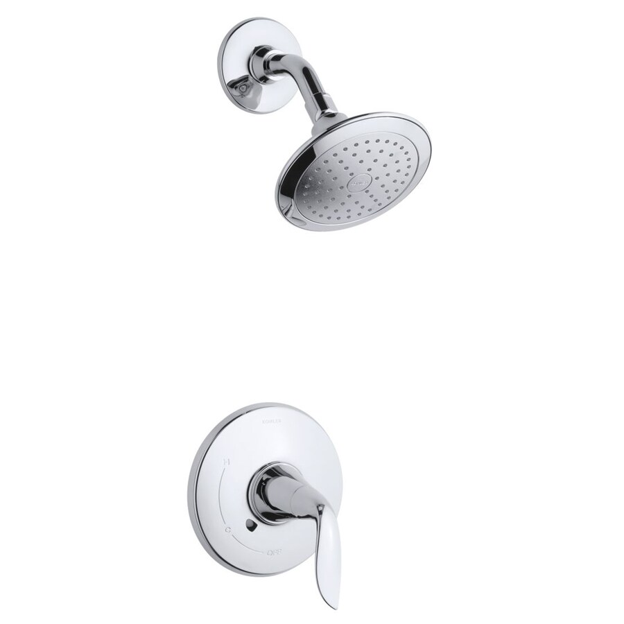 KOHLER Refinia Polished Chrome 1-Handle WaterSense Shower Faucet Trim Kit with Single Function Showerhead