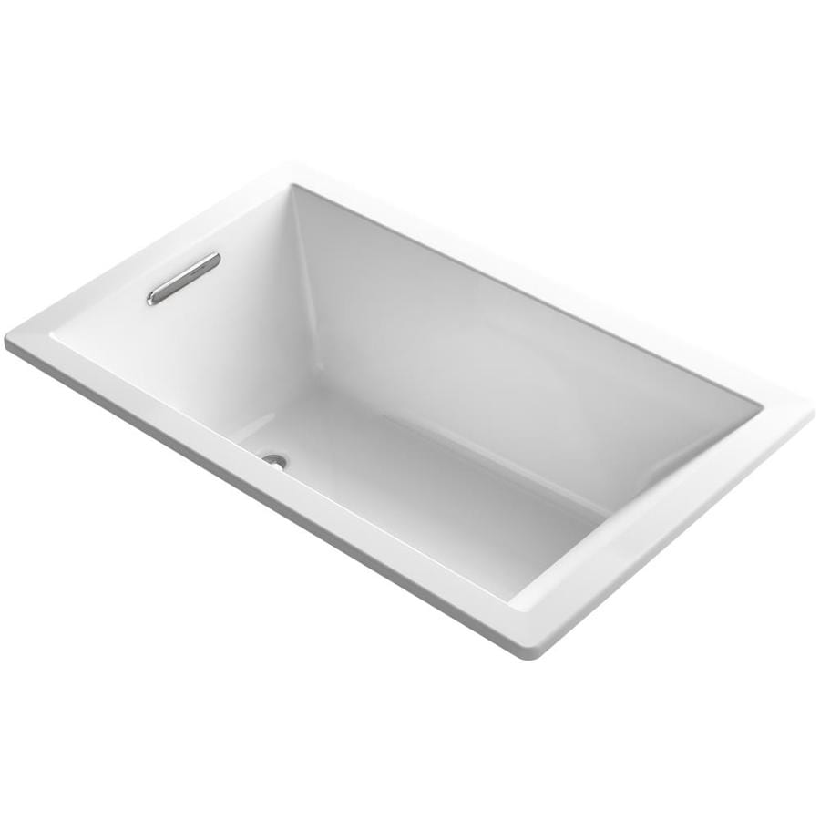 KOHLER Underscore White Acrylic Rectangular Drop-in Bathtub with Reversible Drain (Common: 36-in x 60-in; Actual: 21-in x 36-in x 60-in)