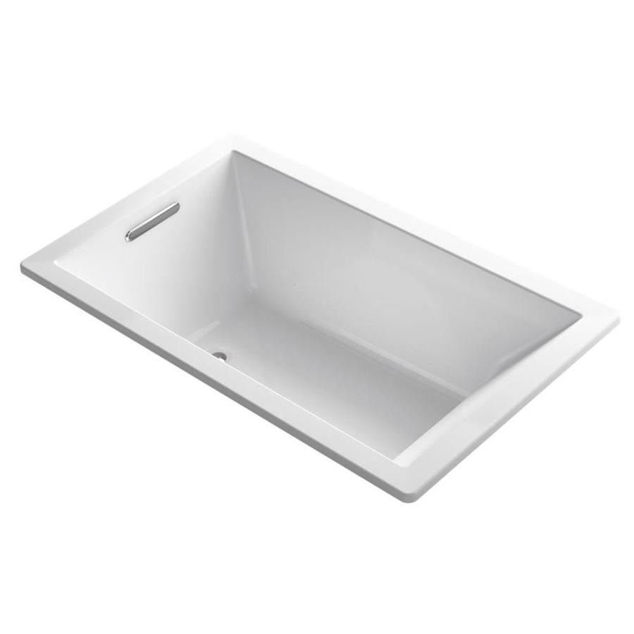 KOHLER Underscore 60-in L x 36-in W x 21-in H White Acrylic Rectangular Drop-in Air Bath