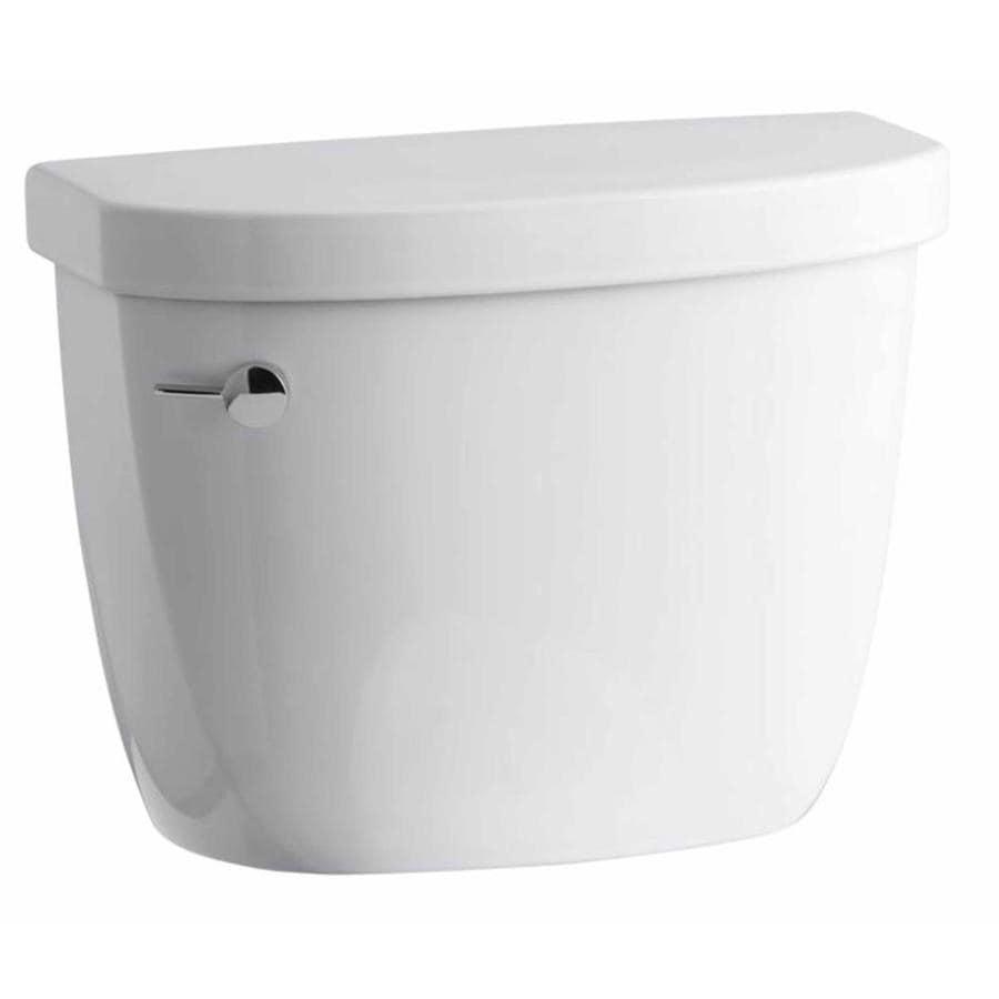 KOHLER Cimarron White 1.28-GPF Single-Flush High-Efficiency Toilet Tank