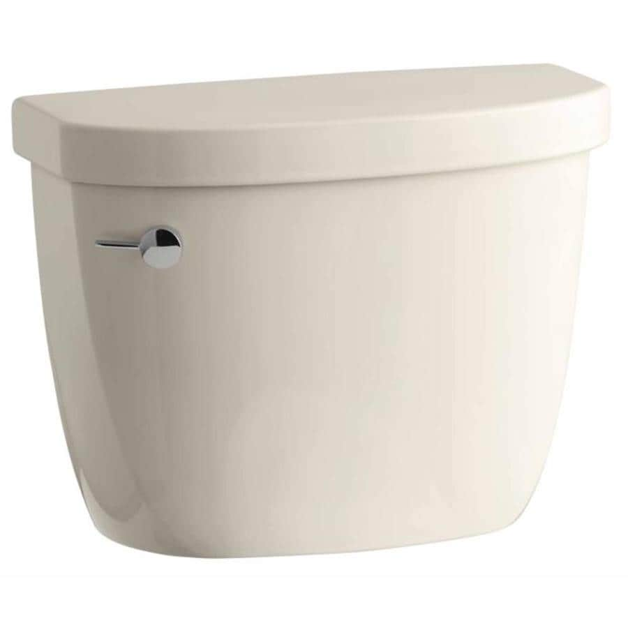 KOHLER Cimarron Almond 1.2800-GPF Single-Flush High-Efficiency Toilet Tank
