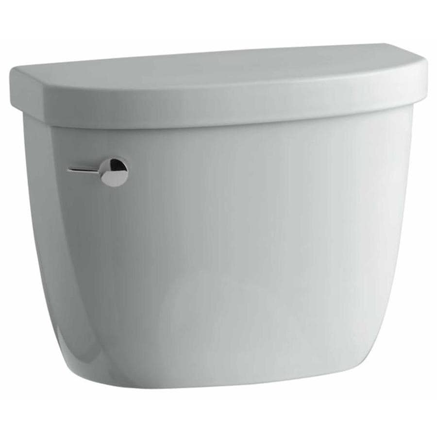 KOHLER Cimarron Ice Gray 1.2800-GPF Single-Flush High-Efficiency Toilet Tank