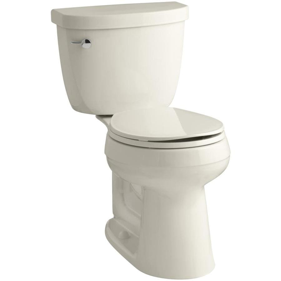 KOHLER Cimarron Almond WaterSense Labeled  Round Chair Height 2-piece Toilet 12-in Rough-In Size