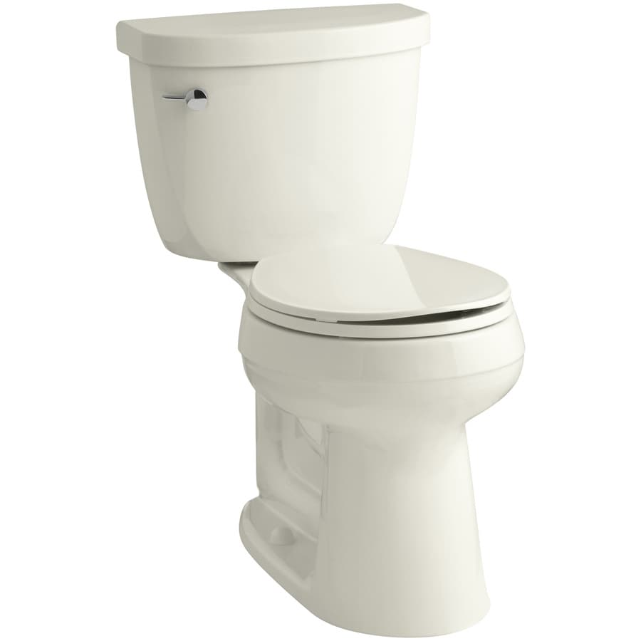 KOHLER Cimarron 1.28-GPF (4.85-LPF) Biscuit Round Chair Height 2-piece Toilet