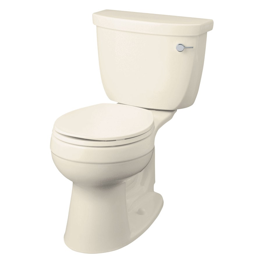 KOHLER Cimarron 1.28-GPF (4.85-LPF) Almond Round Chair Height 2-piece Toilet
