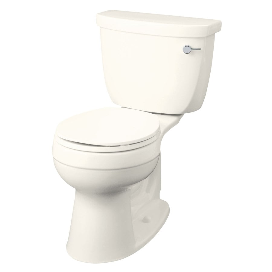 KOHLER Cimarron 1.28-GPF Biscuit WaterSense Round Chair Height 2-Piece Toilet