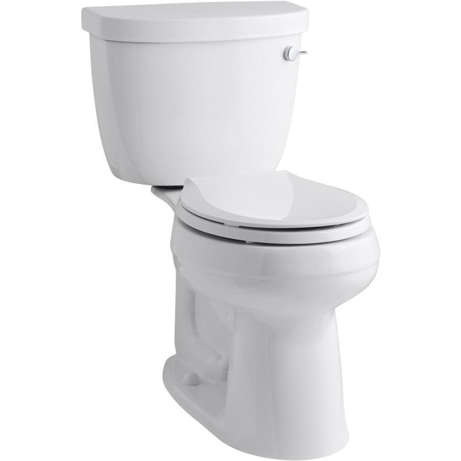 Kohler Cimarron White Watersense Labeled Round Comfort