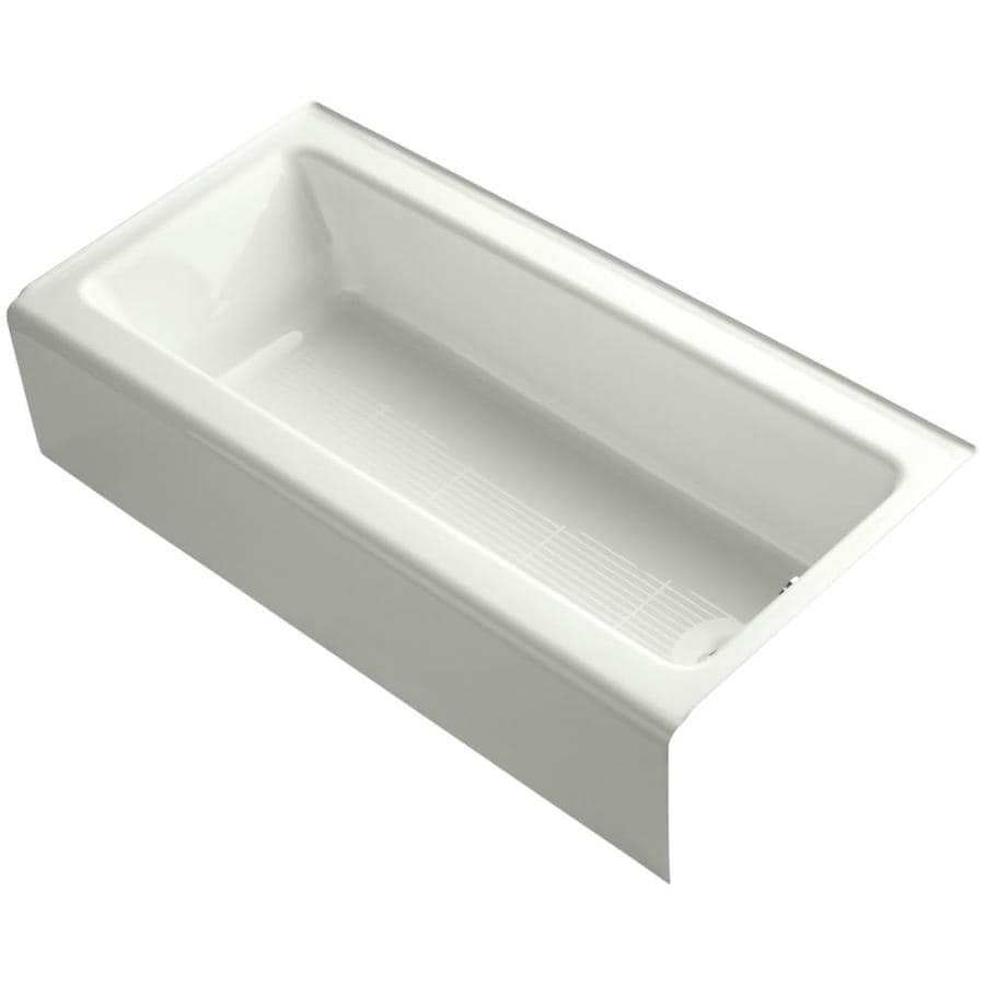KOHLER Bellwether Dune Cast Iron Rectangular Alcove Bathtub with Right-Hand Drain (Common: 30-in x 60-in; Actual: 14.5-in x 30.25-in x 60-in)