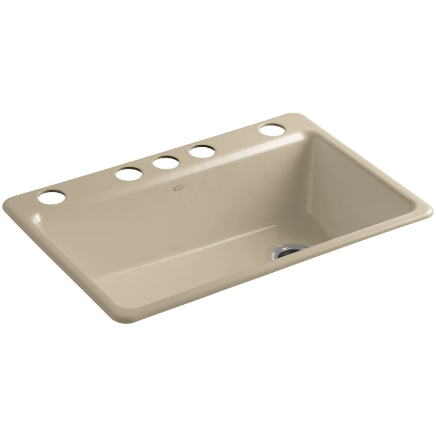 Kohler Riverby Single Basin Undermount Cast Iron Kitchen Sink