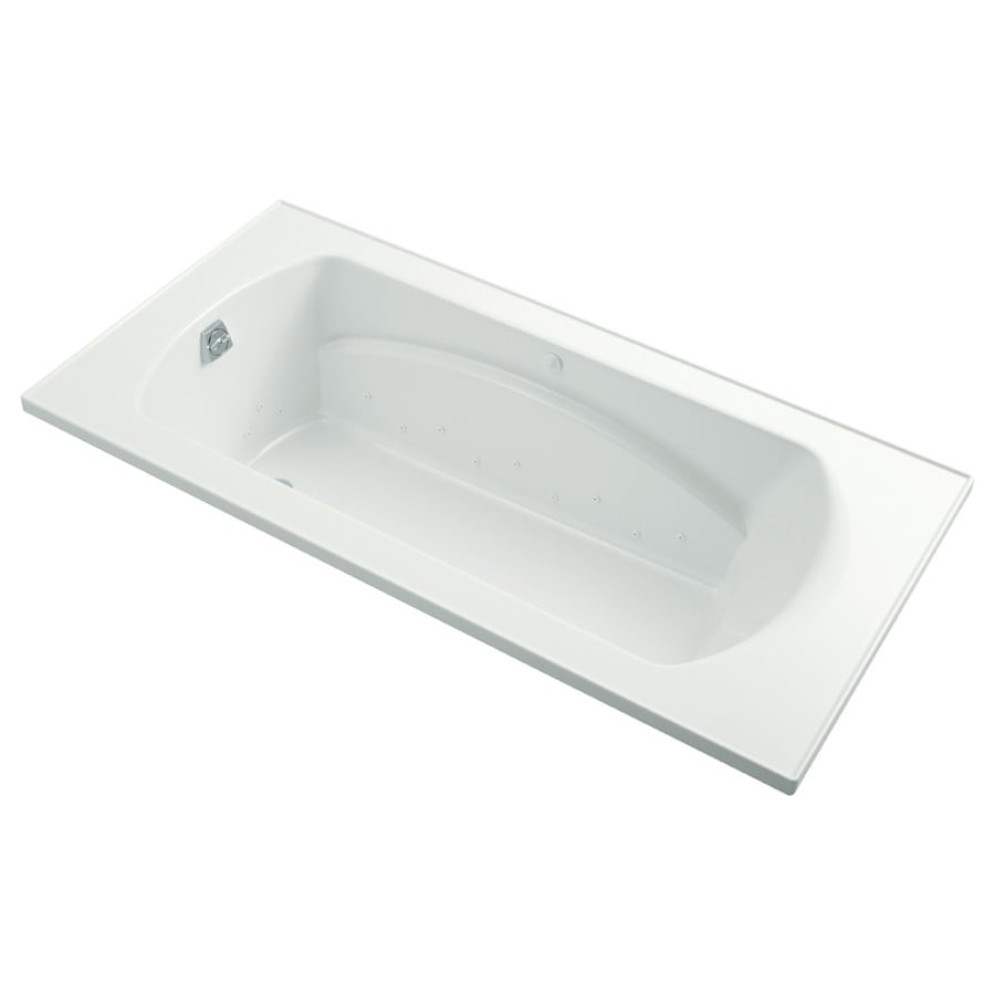 Sterling Lawson 36-in L x 72-in W x 20-in H White Vikrell Oval In Rectangle Drop-in Air Bath