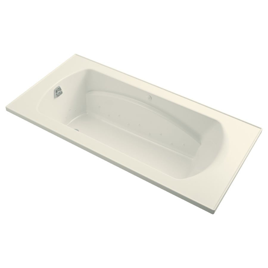 Sterling Lawson 36-in L x 72-in W x 20-in H Biscuit Vikrell Oval In Rectangle Drop-in Air Bath