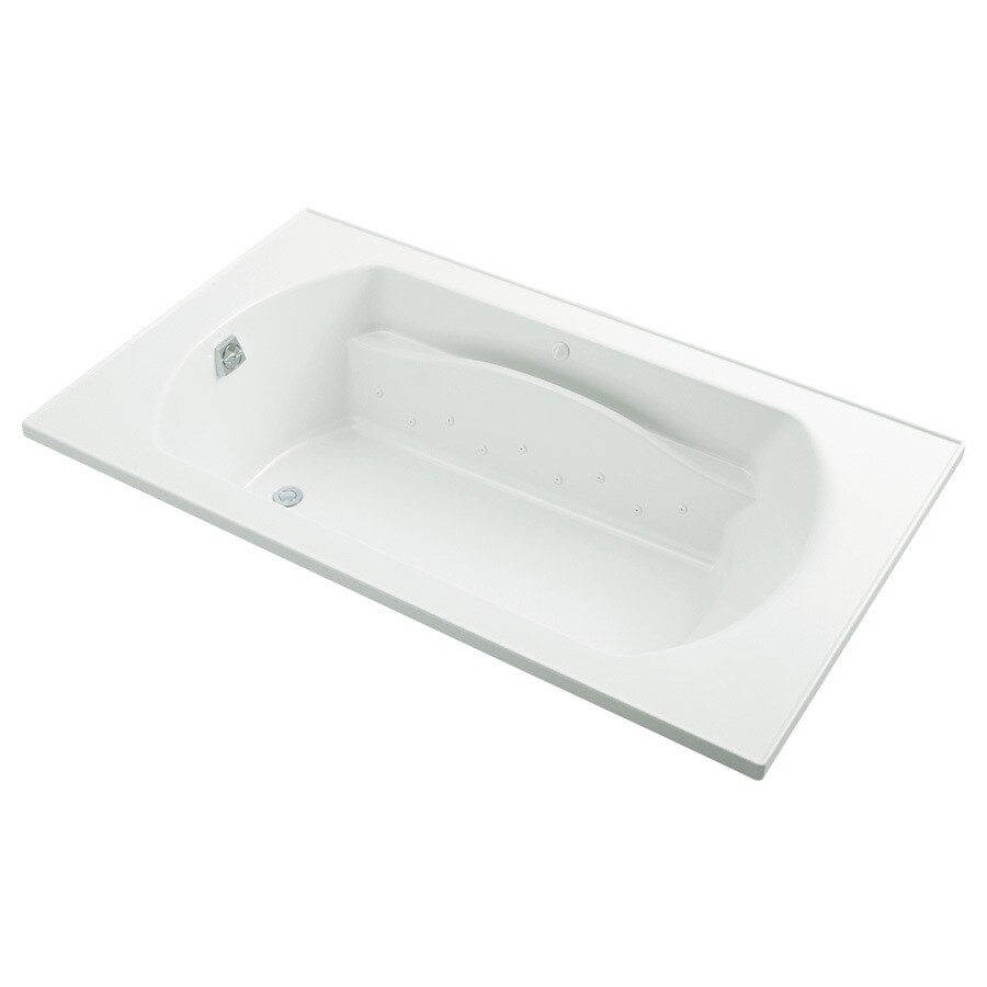 Sterling Lawson 42-in L x 72-in W x 20-in H White Vikrell Oval In Rectangle Drop-in Air Bath