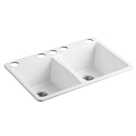 White Undermount Kitchen Sink shop kitchen sinks at lowes