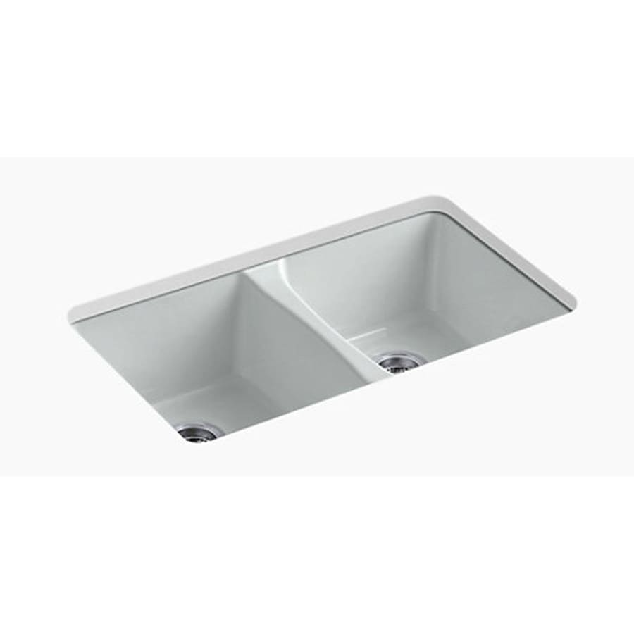 cast iron kitchen sinks undermount shop kohler deerfield basin undermount enameled 8066