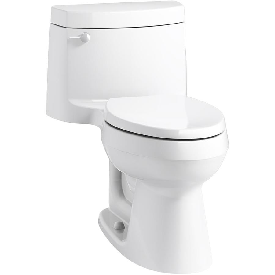 KOHLER Cimarron White WaterSense Labeled  Elongated Chair Height 1-piece Toilet 12-in Rough-In Size