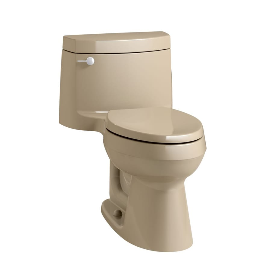 KOHLER Cimarron 1.28-GPF Mexican Sand WaterSense Elongated Chair Height 1-Piece Toilet