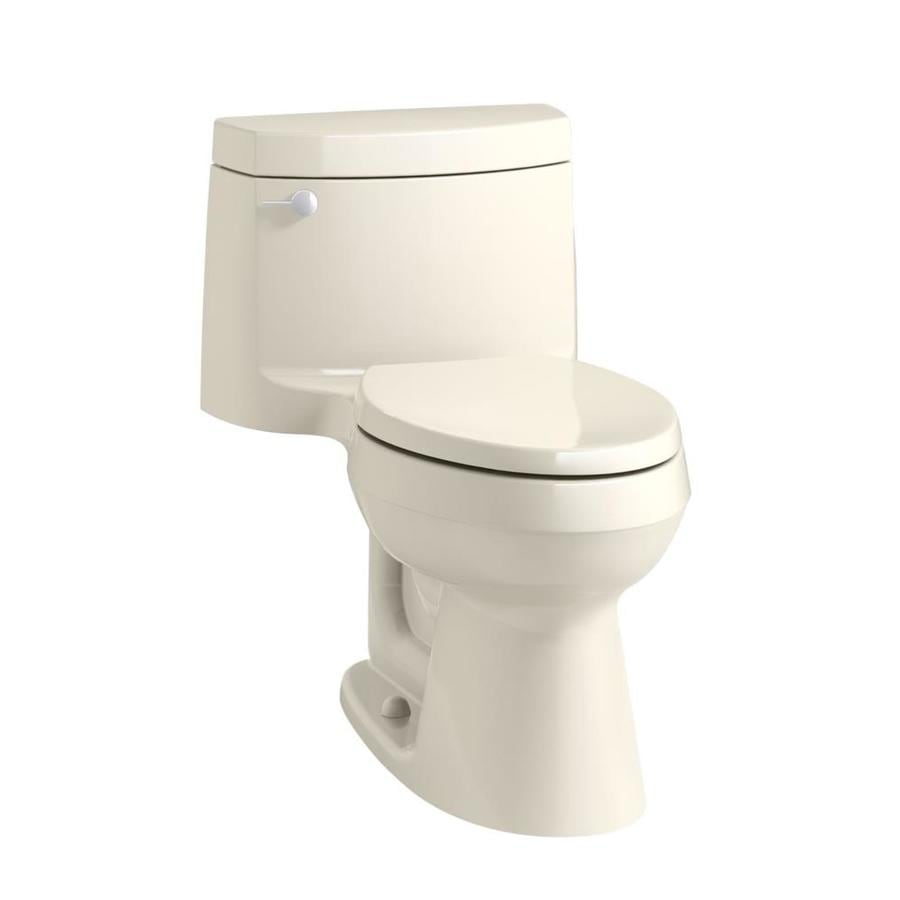 KOHLER Cimarron 1.28 Almond WaterSense Elongated Standard Height 1-Piece Toilet