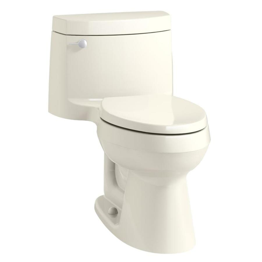 KOHLER Cimarron 1.28-GPF (4.85-LPF) Biscuit Elongated Chair Height 1-piece Toilet