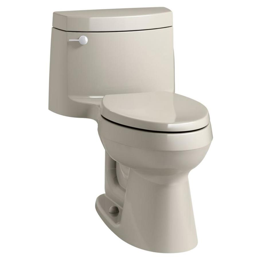 KOHLER Cimarron Sandbar WaterSense Labeled  Elongated Chair Height 1-piece Toilet 12-in Rough-In Size