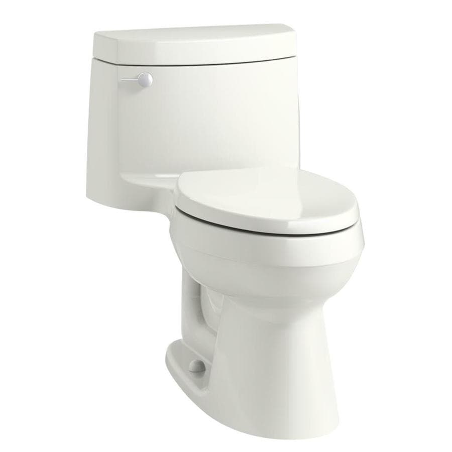 KOHLER Cimarron Dune 1.28-GPF (4.85-LPF) 12 Rough-In WaterSense Elongated 1-Piece Chair Height Rear Outlet Toilet