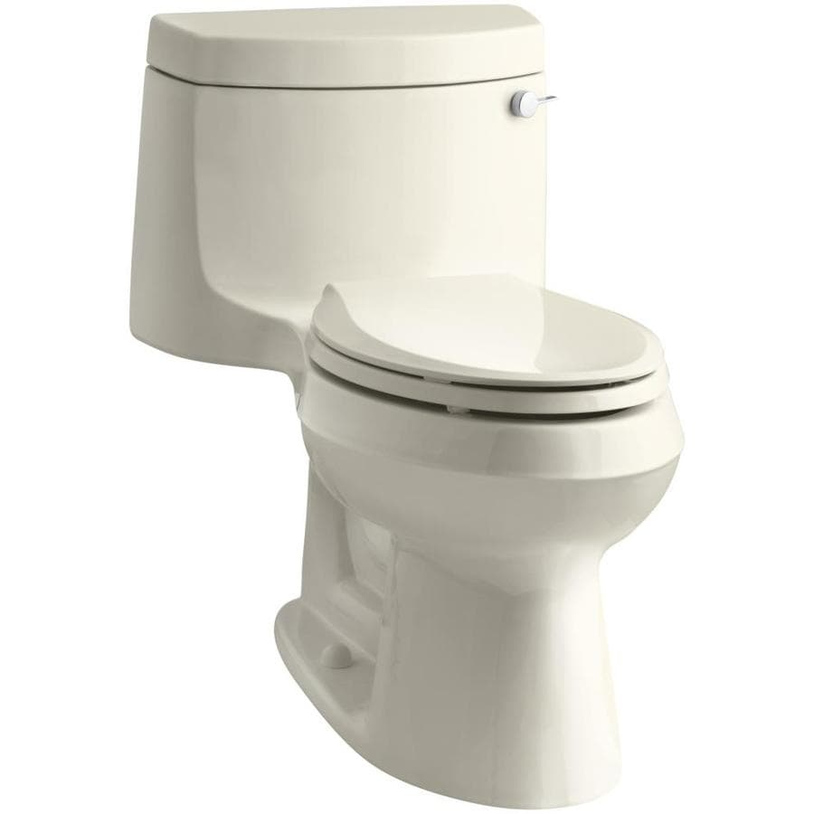 KOHLER Cimarron Almond 1.28-GPF (4.85-LPF) 12 Rough-In WaterSense Elongated 1-Piece Chair Height Toilet
