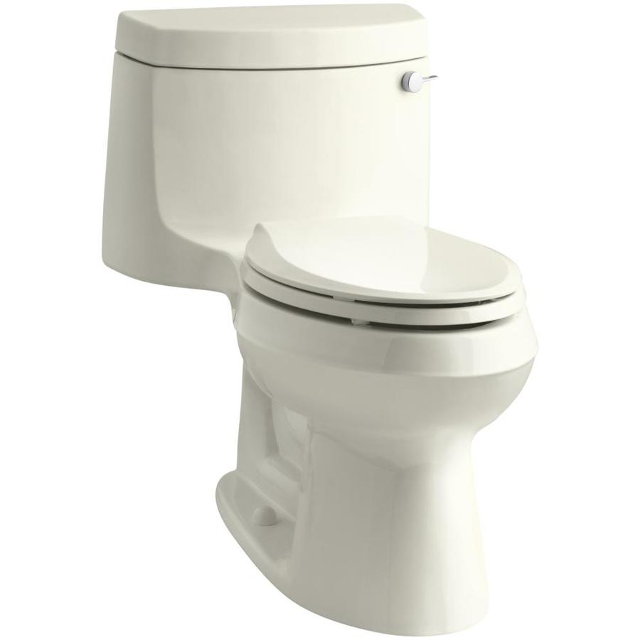KOHLER Cimarron Biscuit WaterSense Labeled  Elongated Chair Height 1-piece Toilet 12-in Rough-In Size