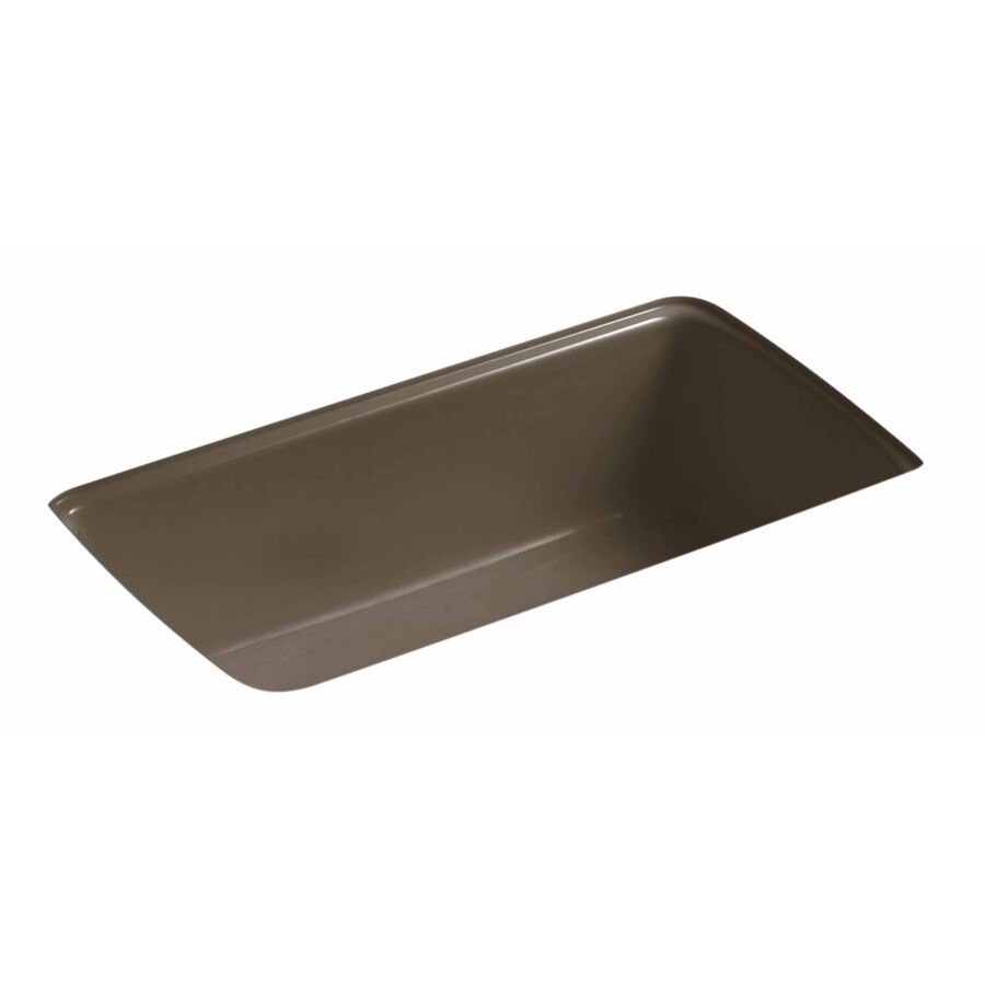 ... 33-in Suede Double-Basin Cast Iron Undermount Residential Kitchen Sink