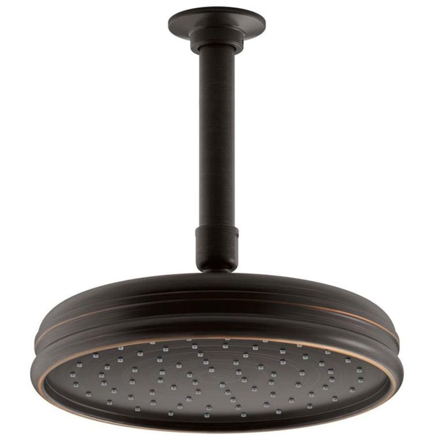 KOHLER Traditional 8.4375-in 2.5-GPM (9.5-LPM) Oil-Rubbed Bronze 1-Spray WaterSense Rain Showerhead