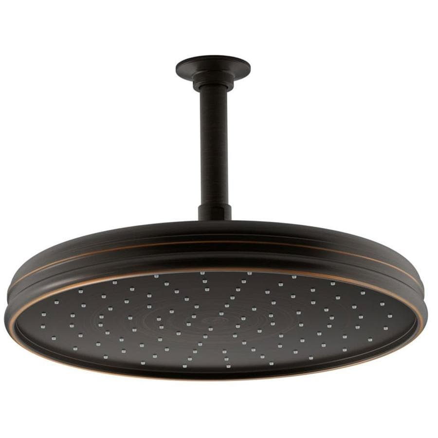 KOHLER Traditional 12.4375-in 2.5-GPM (9.5-LPM) Oil-Rubbed Bronze 1-Spray Rain Showerhead