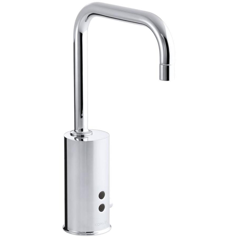 KOHLER Polished Chrome Touchless Single Hole Bathroom Faucet
