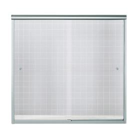 sterling 555in h x 59625in w smooth clear glass bathtub and shower - Bathtub Shower Doors