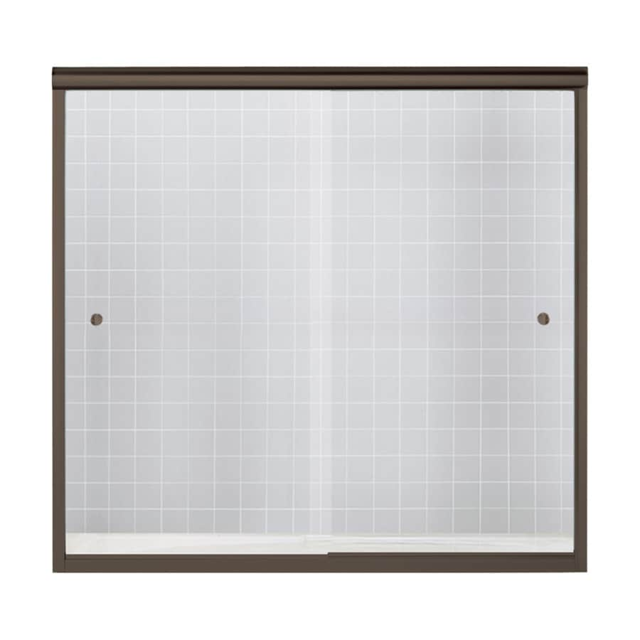 Sterling Finesse 59.625-in W x 55.5-in H Frameless Bathtub Door